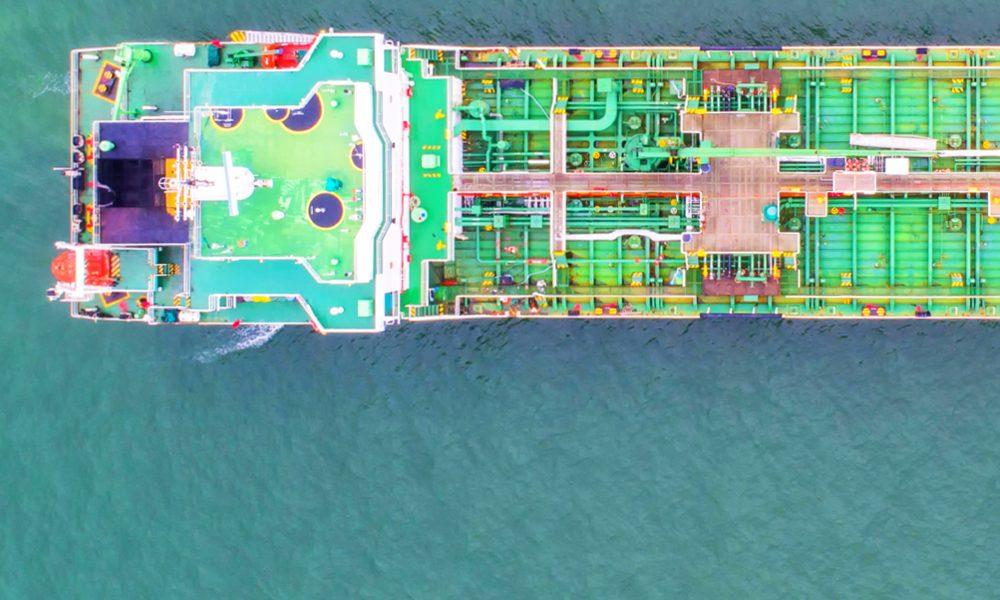 Öltanker auf hoher See