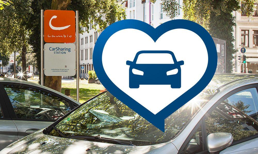 Soli-Station und Soli-Auto zur Unterstützung von cambio CarSharing in Zeiten der Corona-Krise